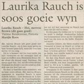 2000 - Beeld - Laurika Rauch is soos 'n goeie wyn